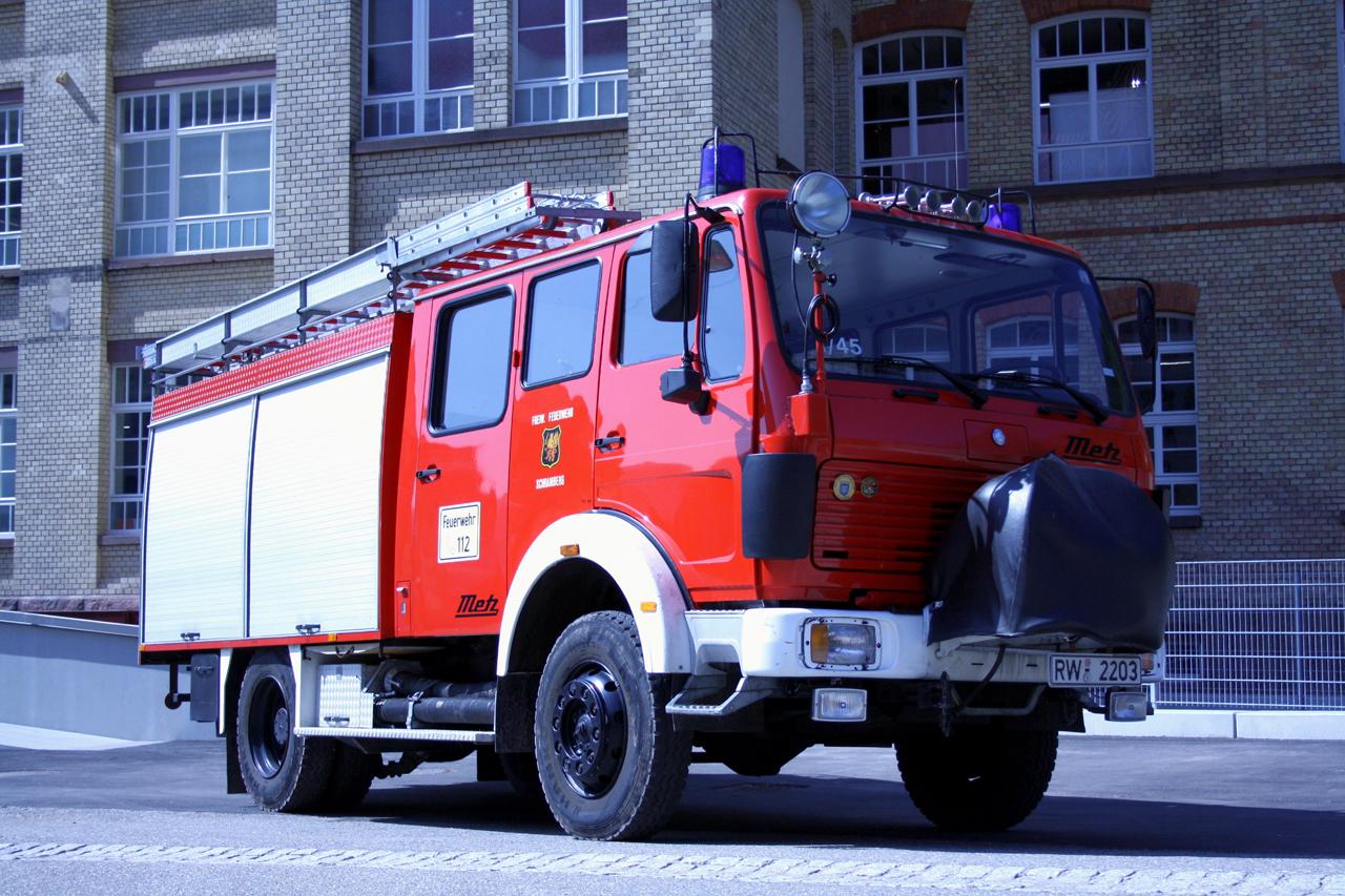 Das Vorgängerfahrzeug LF16-TS darf nun nach 33 Jahren in den wohlverdienten Ruhestand...