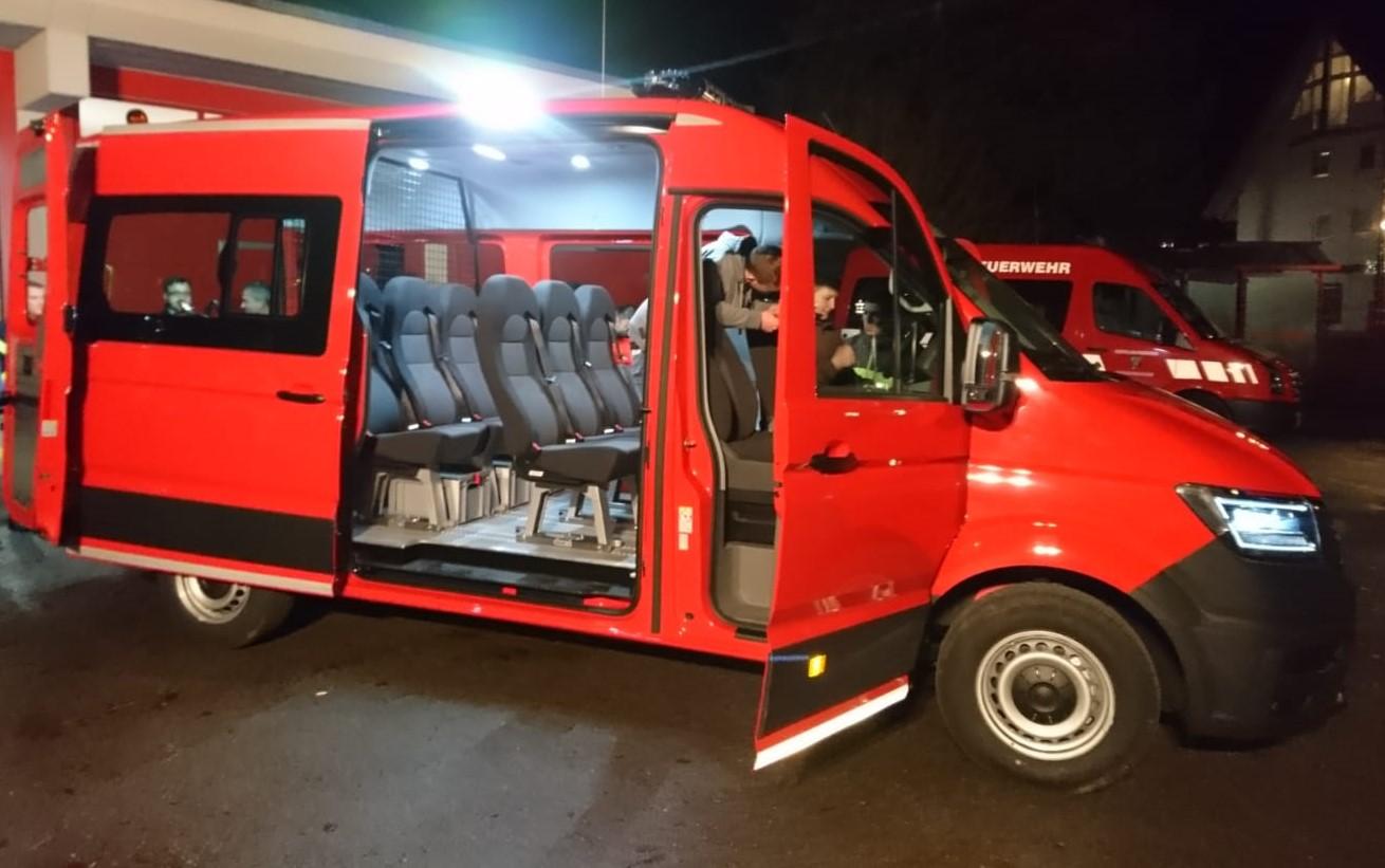 Neuer Mannschaftstransportwagen für die Abt. Waldmössingen